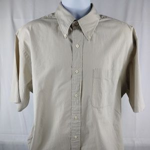 Men's Nautica Short Sleeve Button Down Shirt Sz XL